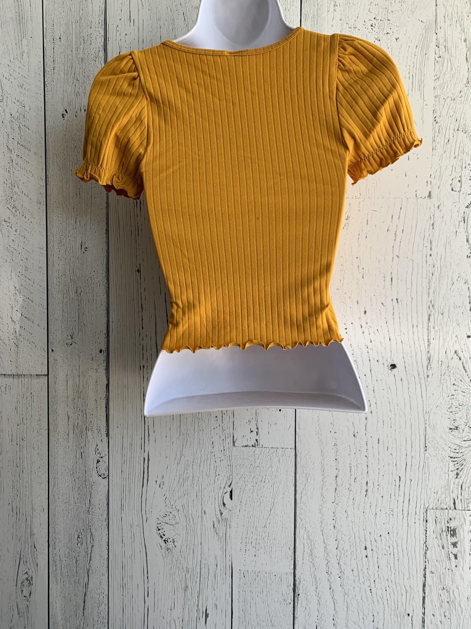 ribbed puff sleeve crop top