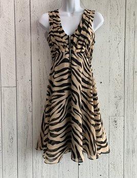 animal print chiffon dress