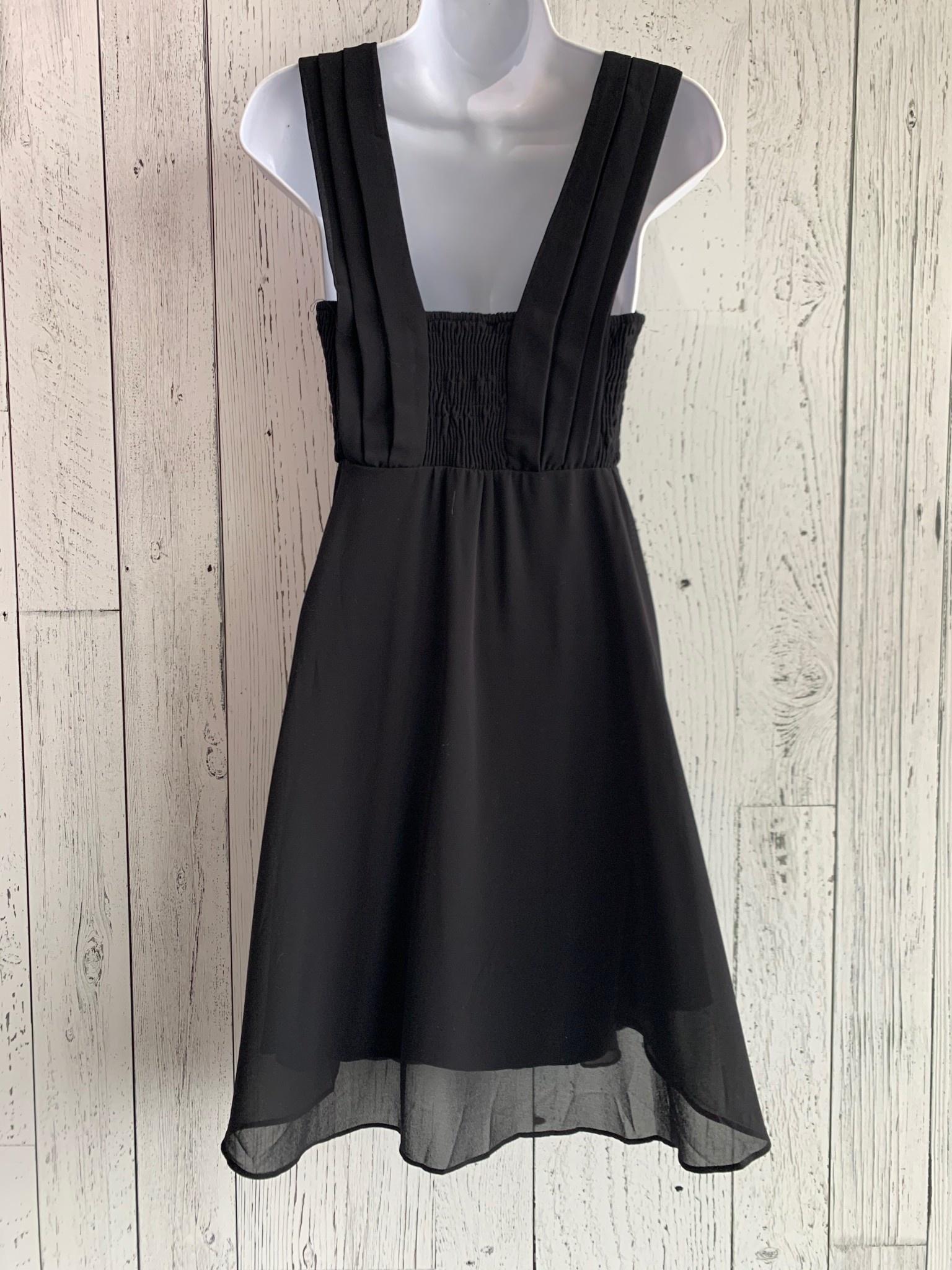 chiffon fit & flare dress