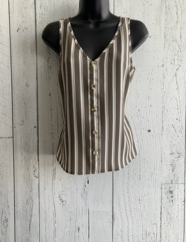 vero moda -striped wood  button top