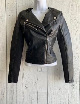 vero moda - short faux leather jacket