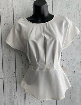pleated waist top