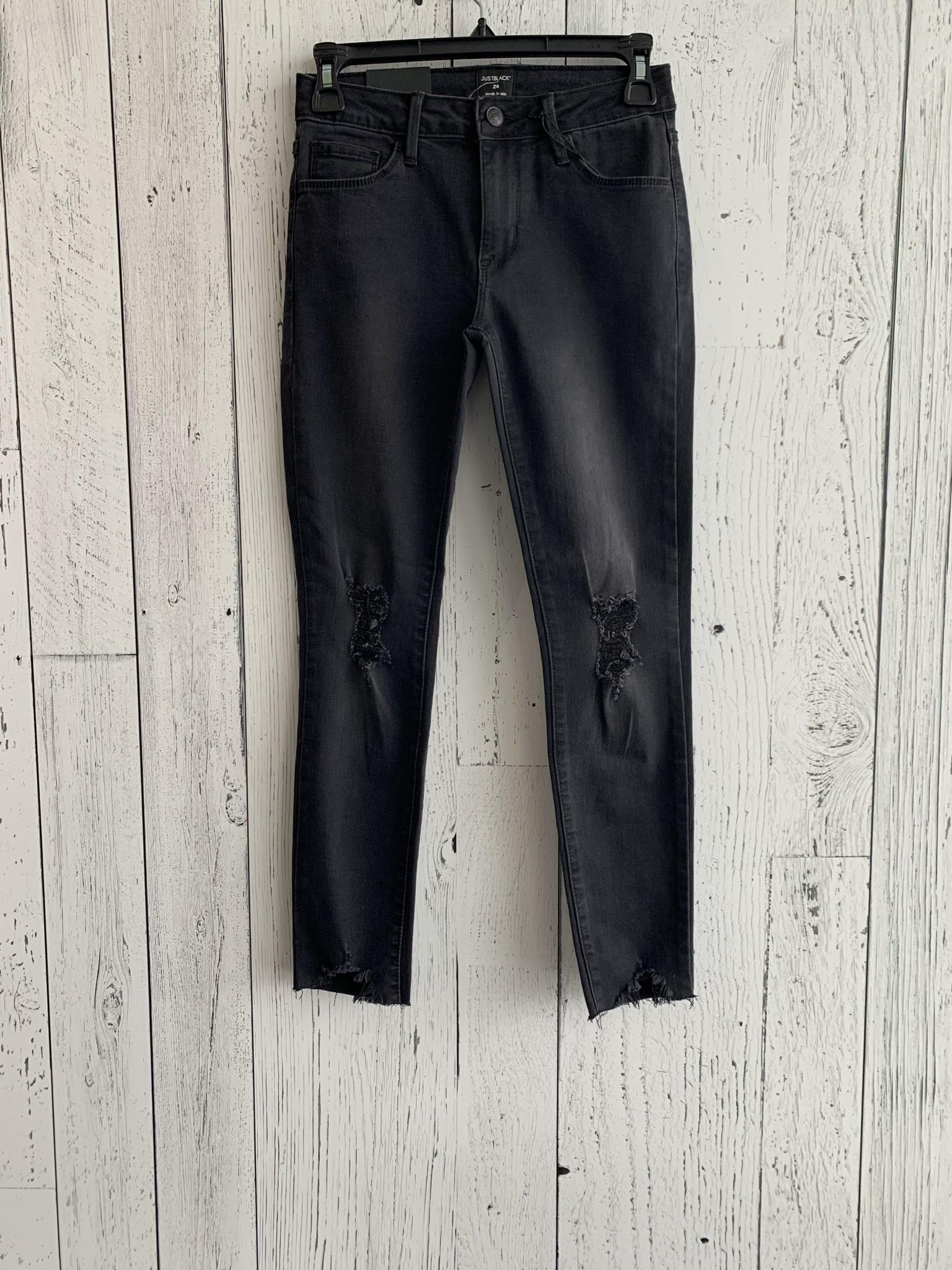 crop destroyed hem jeans