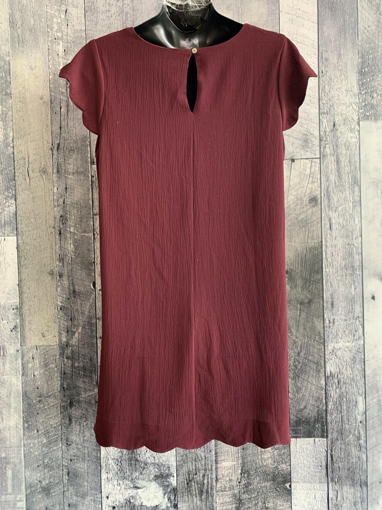 curvy scalloped shift dress