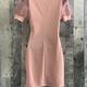 chiffon puff sleeve dress