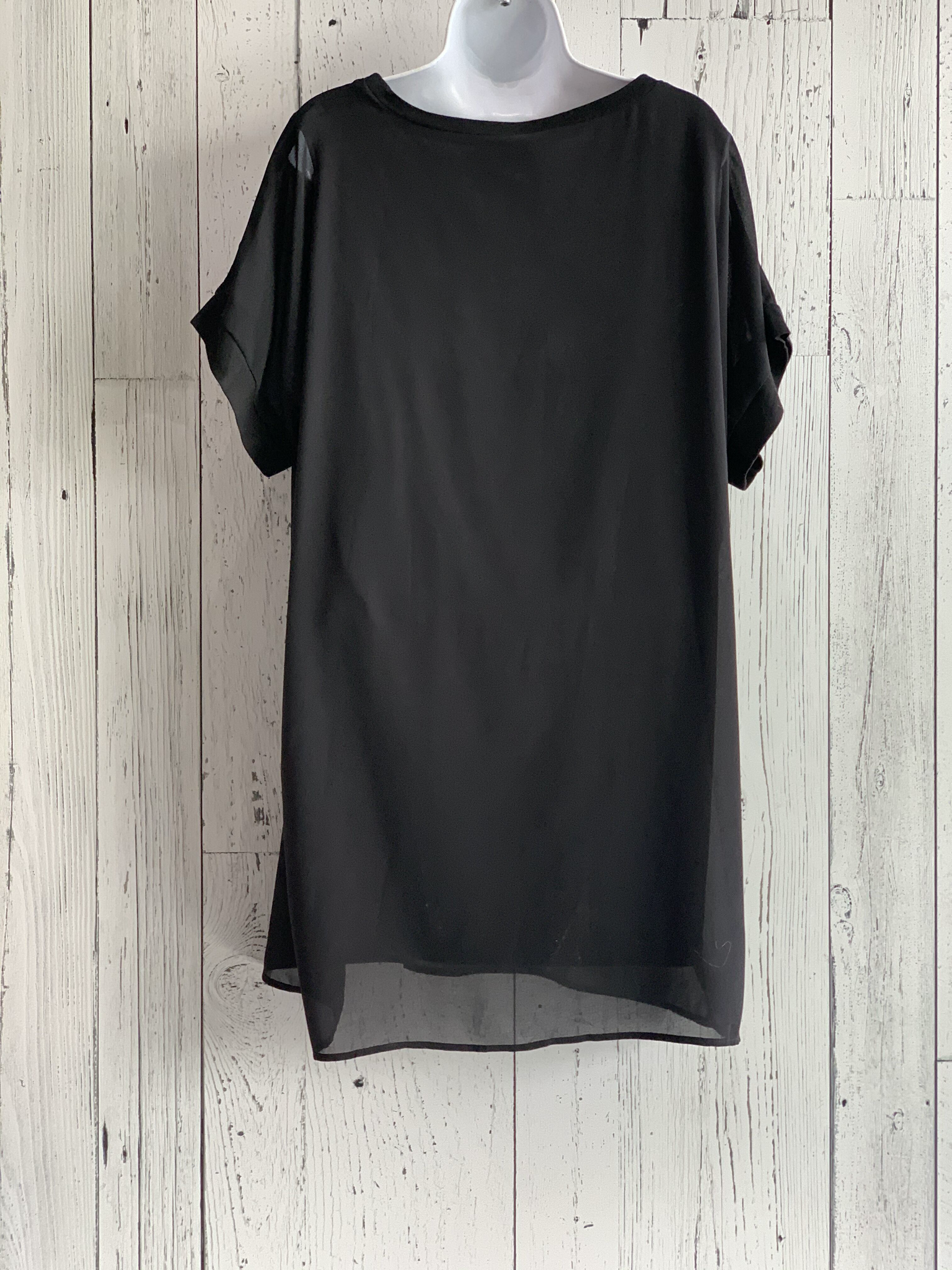 chiffon t-shirt tunic