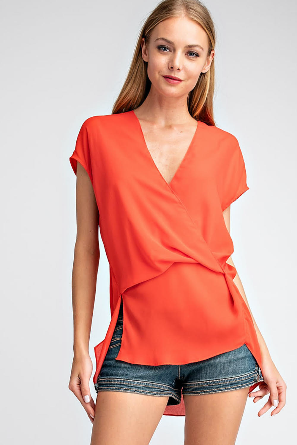 draped pleated top