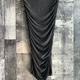 ruched fitted midi skirt