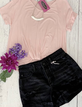 high rise  frayed distressed shorts