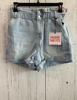 paper bag denim shorts