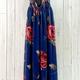floral deep V chiffon gown