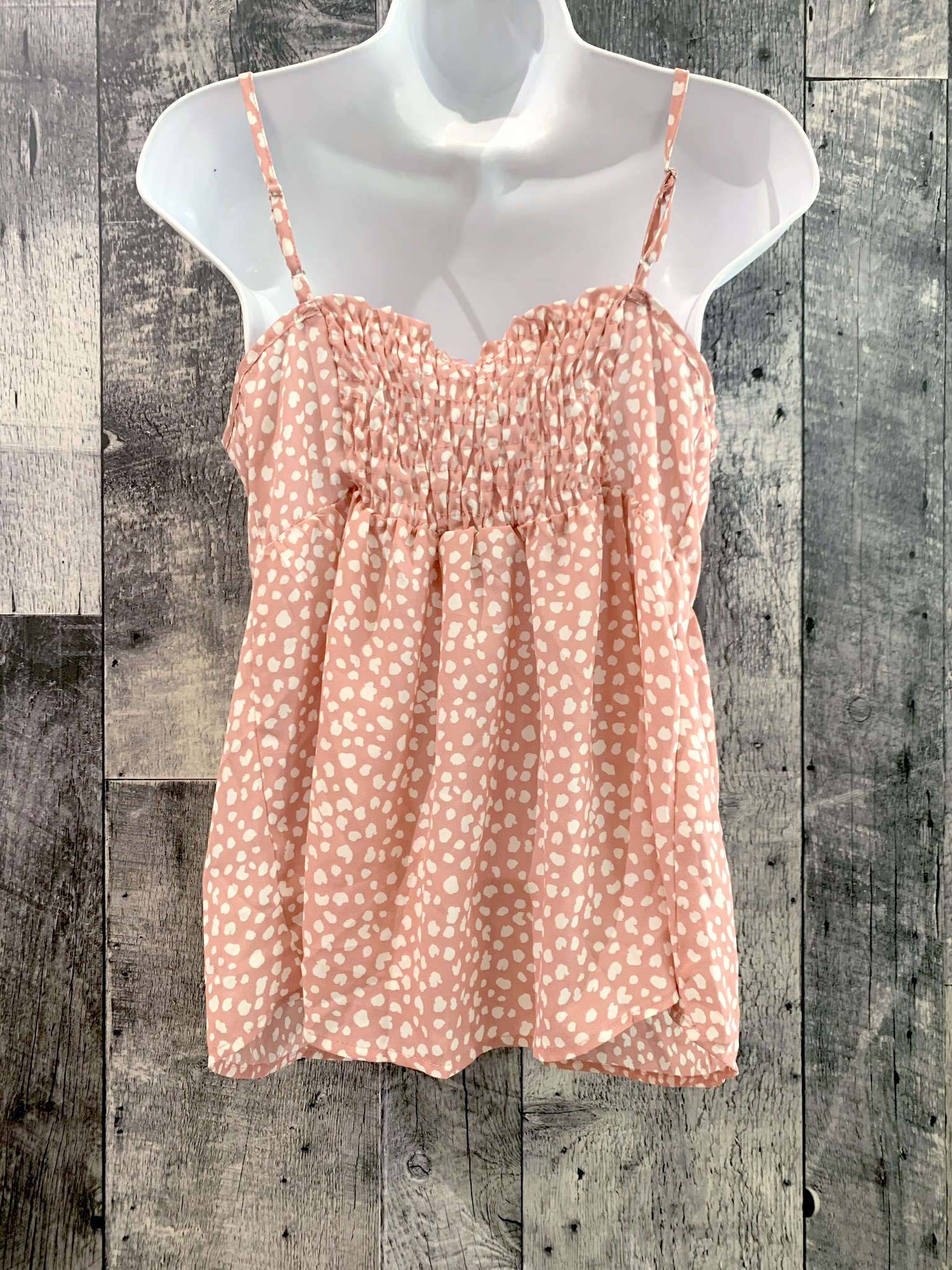 spotted babydoll top