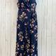 curvy floral open leg jumpsuit