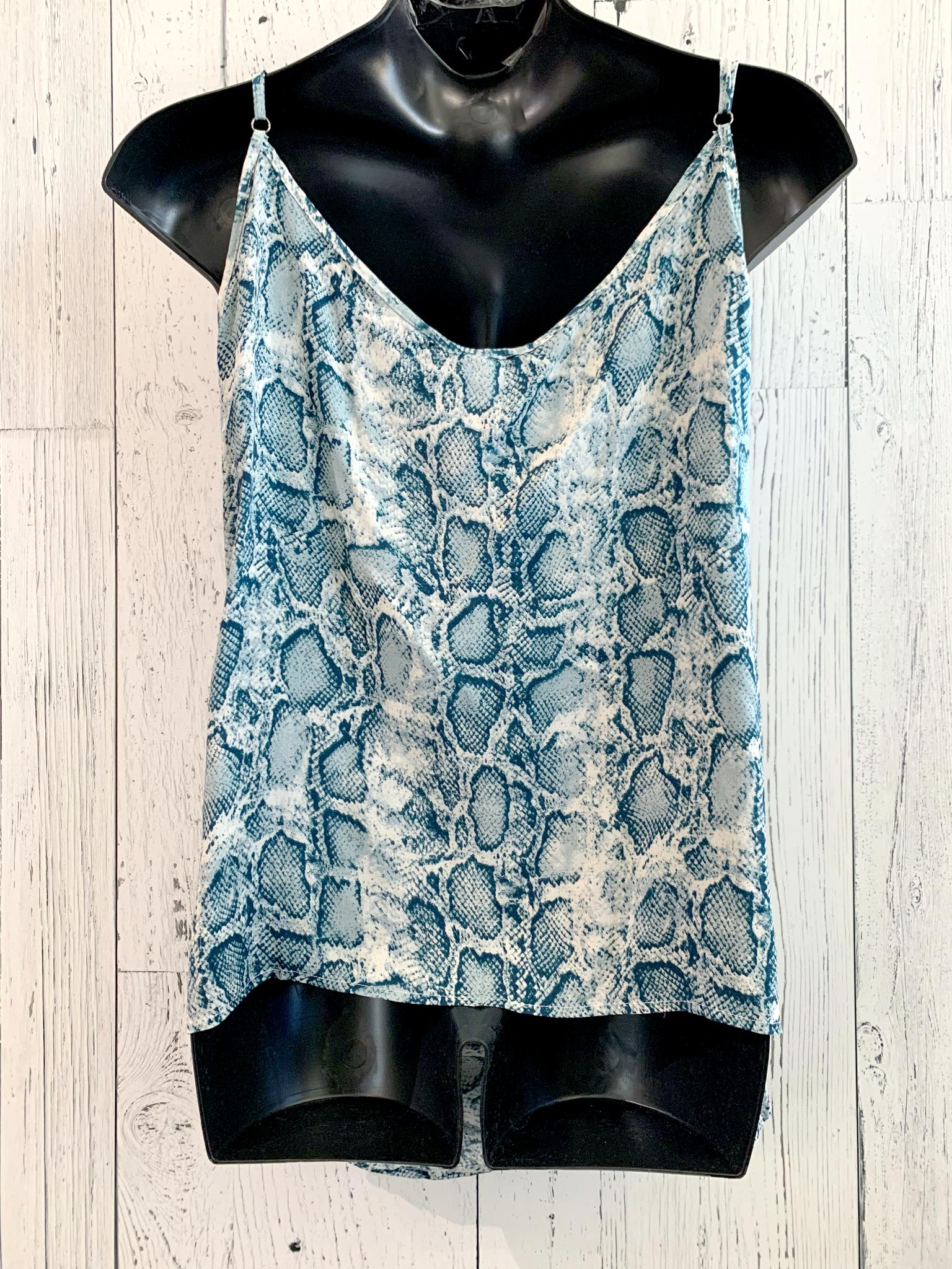 curvy snake skin print cami top