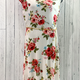 curvy belted floral midi dress