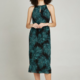 apricot - rope neck palm dress
