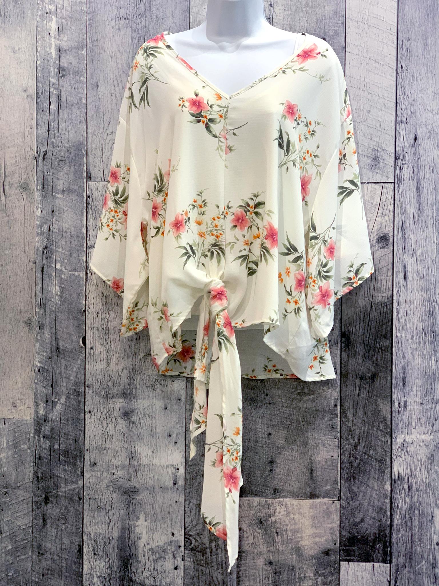 tie front kimono top