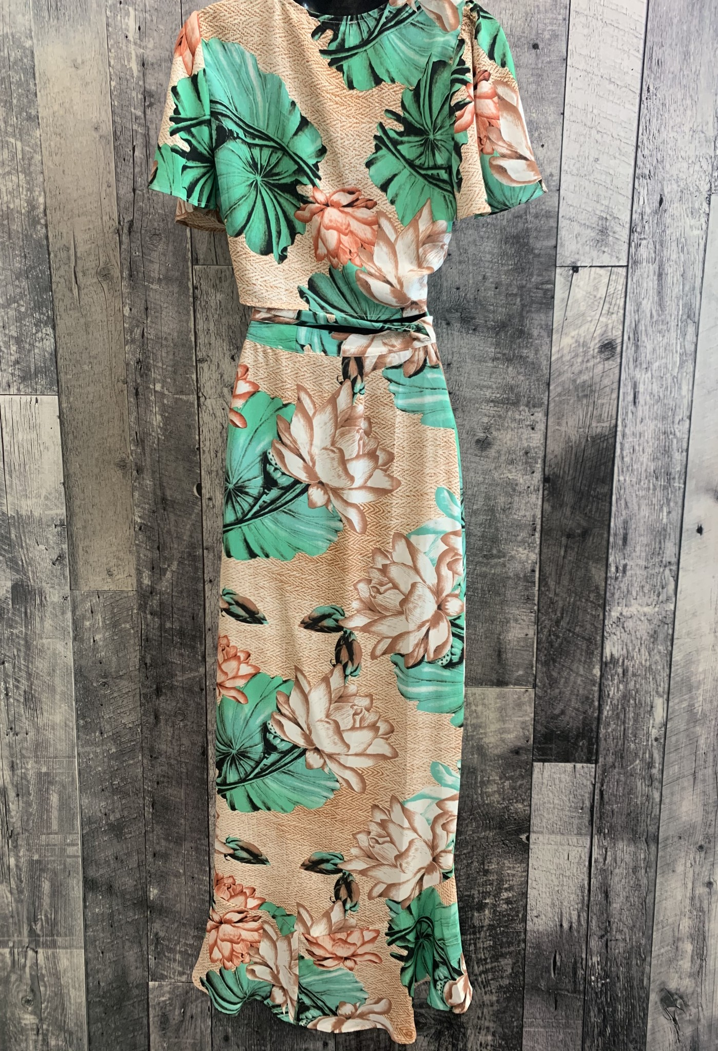 tropical wrap skirt