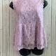curvy lace peplum top