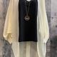 solid button sleeve kimono