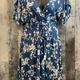 curvy floral faux wrap dress