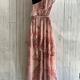one shoulder ruffle maxi dress