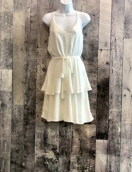 tiered cami dress with sash