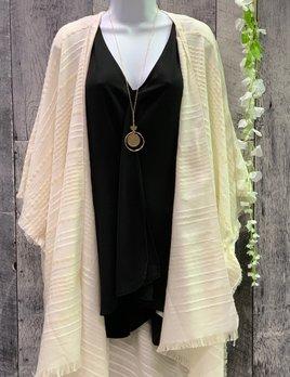 blanket kimono gold thread detail