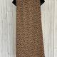 curvy front tie  animal print dress