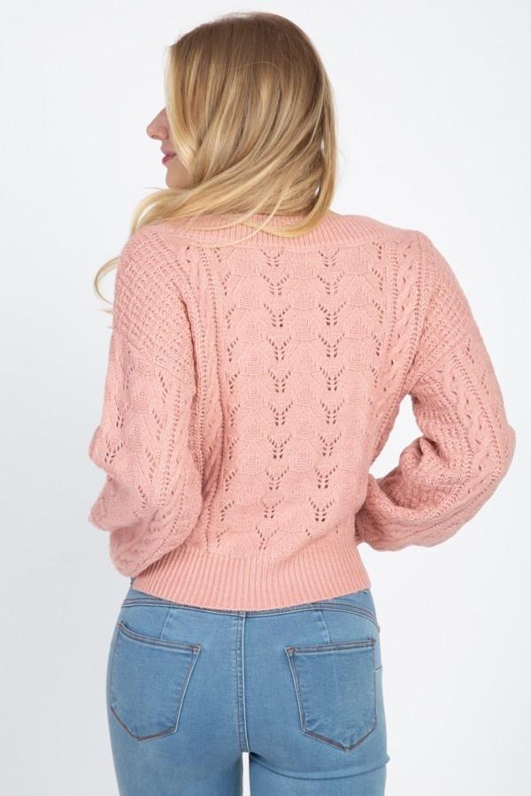 honest balloon sleeve sweater