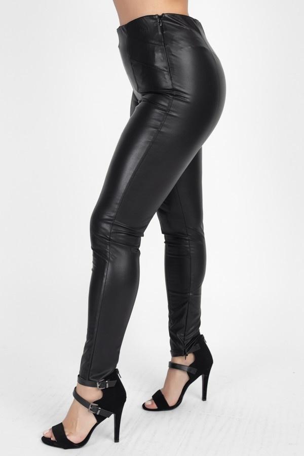 inez faux leather pants