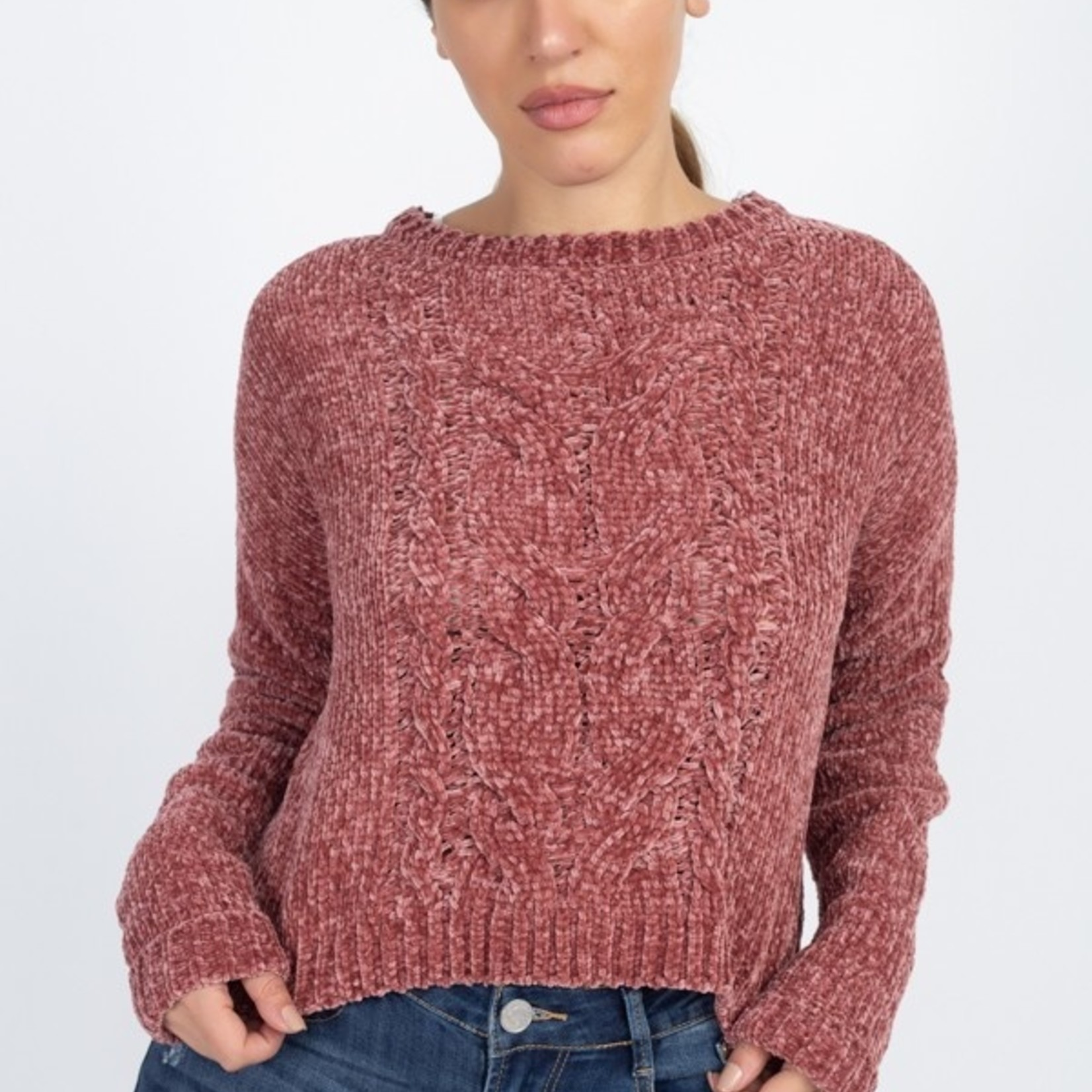 Isabella cable knit sweater