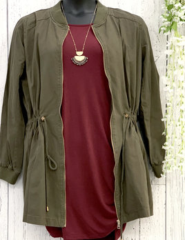 curvy long bomber jacket