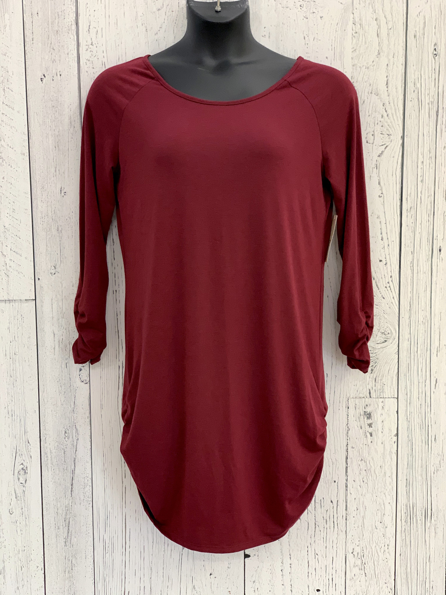 ruched side tunic