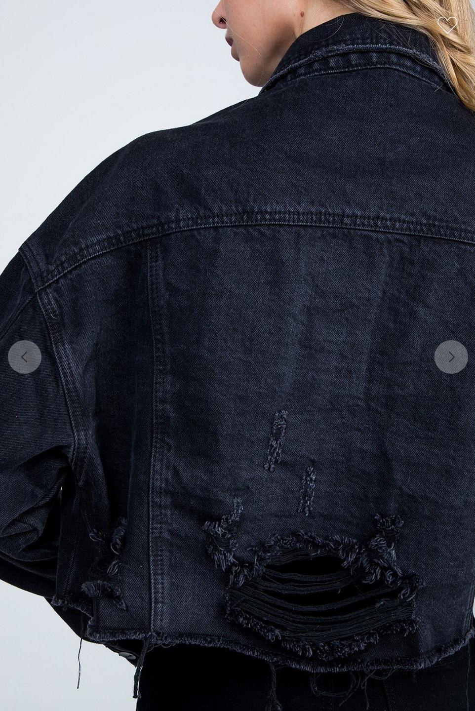 samantha crop denim jacket