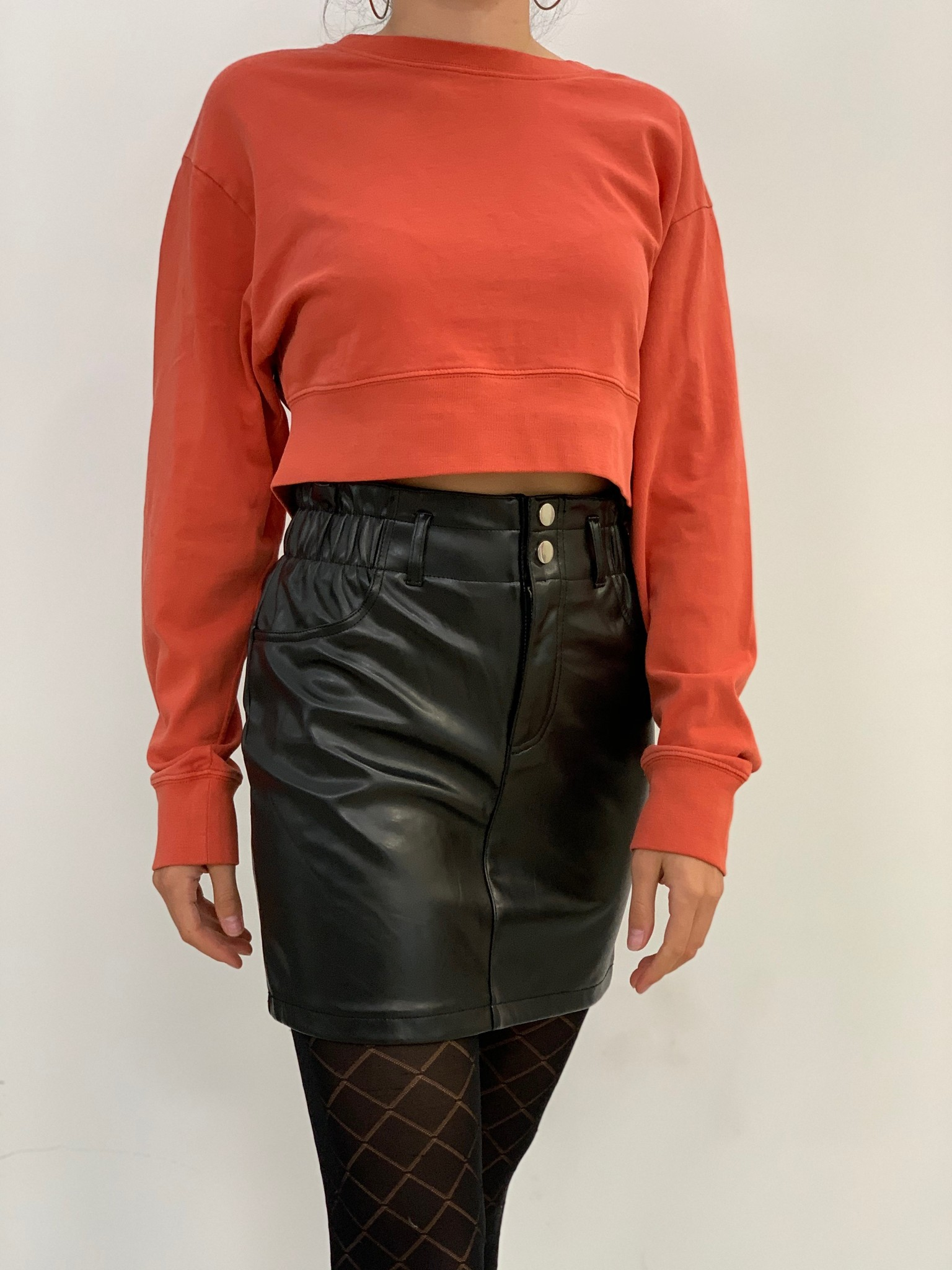 bailey faux leather skirt