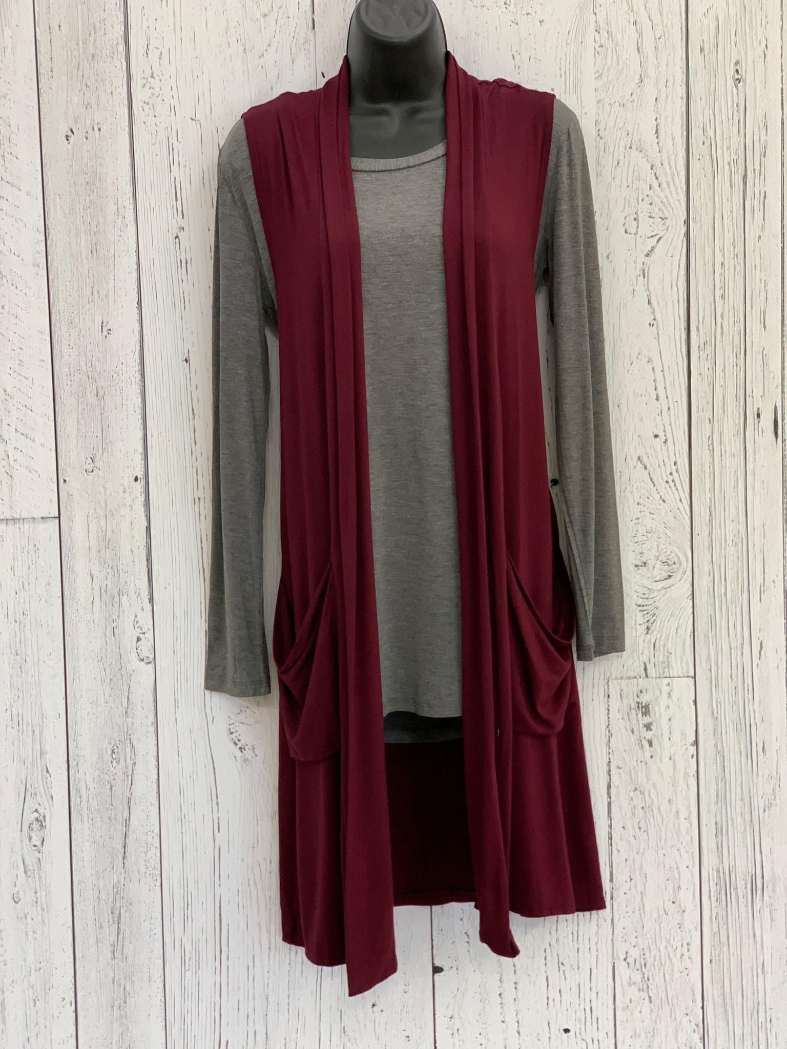 long knit vest
