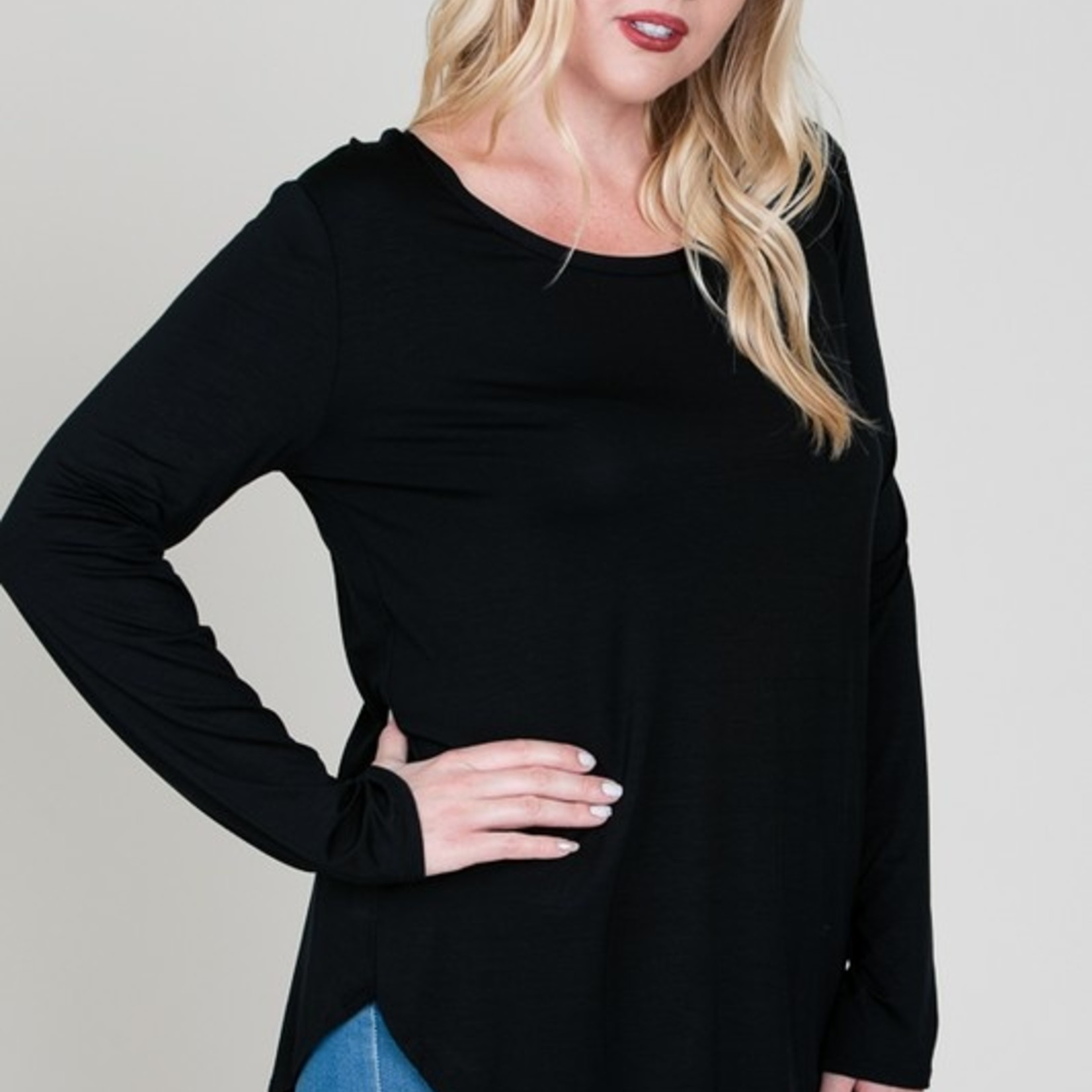 curvy long sleeve top