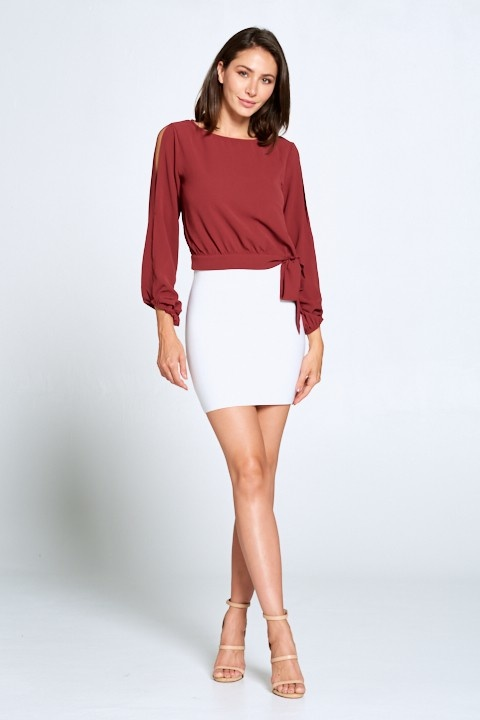 Chloe open shoulder blouse