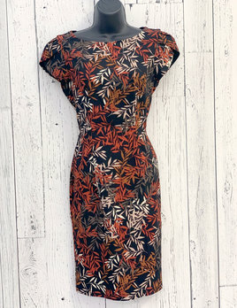 leaves bodycon dress