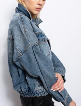 vivian elastic waist  denim jacket
