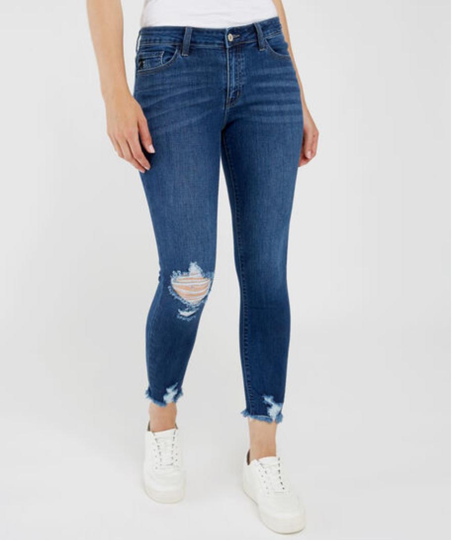 kate distressed ankle skinny jean