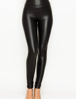 faux leather high waist leggings
