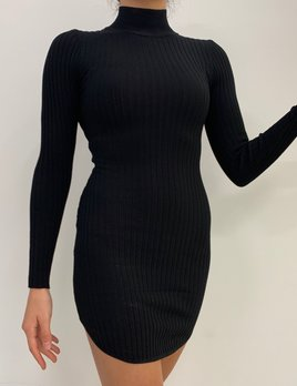 long sleeve mock neck dress