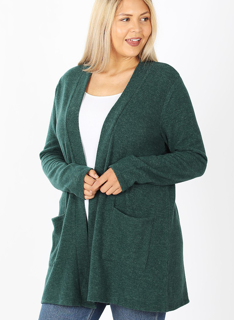 ziva curvy soft pocket cardigan