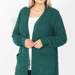 Zada curvy soft textured cardigan