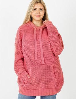Zi curvy knit hoodie