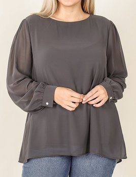 Zilly curvy chiffon blouse