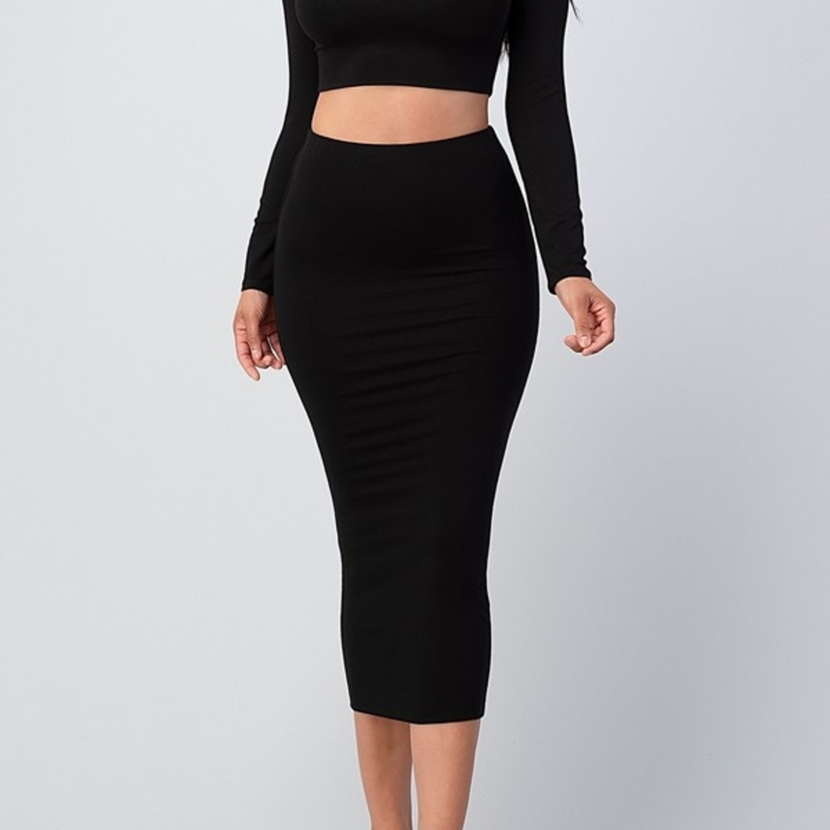 Sierra double lined midi skirt