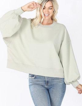 zondra balloon sleeve sweatshirt